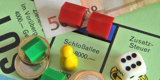 (GERMANY OUT) Monopoly Game, field Schlossalle and supplementary tax (Photo by Schöning/ullstein bild...