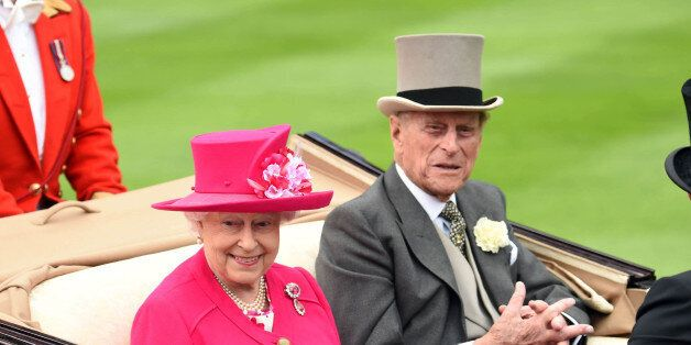 Photo by: KGC-03/STAR MAX/IPx 2015 6/16/15 Her Majesty Queen Elizabeth II and Prince Philip The Duke of Edinburgh at Royal Ascot Day One at Ascot Racecourse. (Berkshire, England, UK)