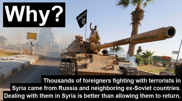 Τα ρωσικά ΜΜΕ εξηγούν γιατί η χώρα πάει σε πόλεμο με το Ισλαμικό