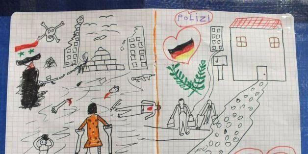 Η ζωγραφιά ενός μικρού προσφυγόπουλου αποτυπώνει την φρίκη του εμφύλιου σπαραγμού στην