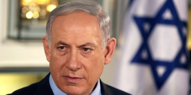 Israel's Prime Minister Benjamin Netanyahu chairs a spatial meeting with his new cabinet in honor of...