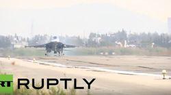 Αποκλειστικά πλάνα του Russia Today από την αεροπορική ρωσική βάση στη