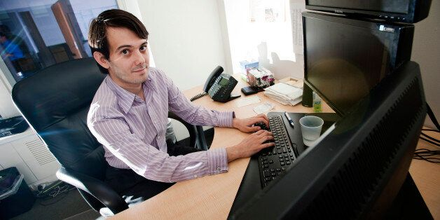 Martin Shkreli, chief investment officer of MSMB Capital Management, sits for a photograph in his office...