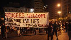Πορεία για τους πρόσφυγες πραγματοποιήθηκε έξω από τα γραφεία της