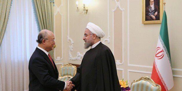 TEHRAN, IRAN - SEPTEMBER 20: International Atomic Energy Agency (IAEA) Director General Yukiya Amano...