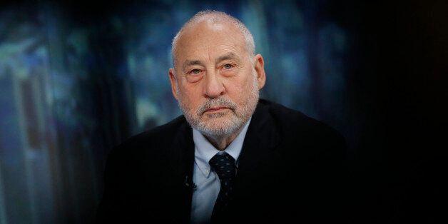 Joseph Stiglitz, Nobel prize-winning economist and professor of economics at Columbia University, pauses...