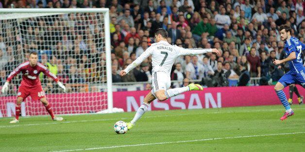 UEFA Champions league game, Real Madrid vs. FC Schalke at Estadio Santiago Bernabeu. Real Madrid lost...