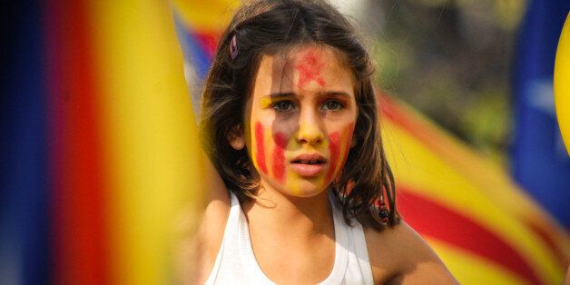 [UNVERIFIED CONTENT] A kid involved in the manifestation of National Day of Catalunya. Una niña se manifiesta...