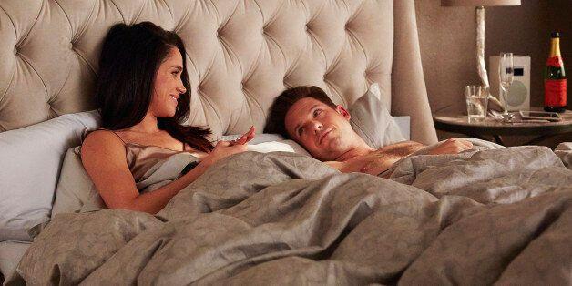 SUITS -- 'Denial' Episode 501 -- Pictured: (l-r) Meghan Markle as Rachel Zane, Patrick J. Adams as Michael...