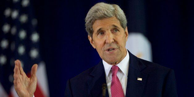 PHILADELPHIA, PA - SEPTEMBER 2: U.S. Secretary of State John Kerry delivers a speech on the nuclear agreement...