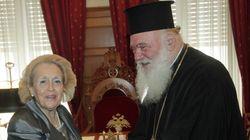Συνάντηση της Βασιλικής Θάνου με τον αρχιεπίσκοπο