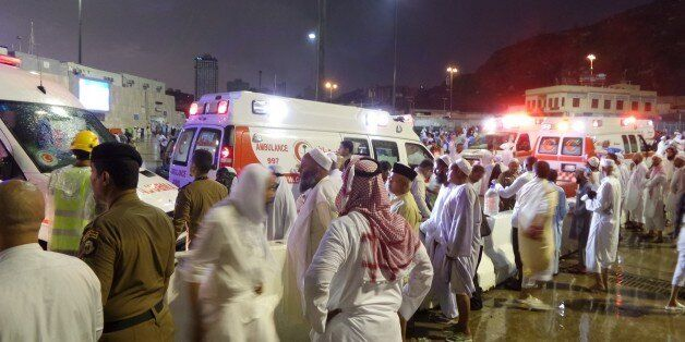 MECCA, SAUDI ARABIA - SEPTEMBER 11: At least 52 worshippers are killed and others injured when storms...