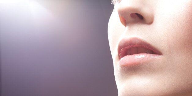 Beauty portrait, mouth