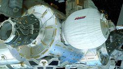 Regardez la station spatiale internationale se doter d'une nouvelle pièce