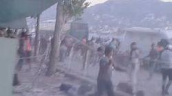 Άγριο ξύλο με σιδηρόβεργες μεταξύ μεταναστών στην