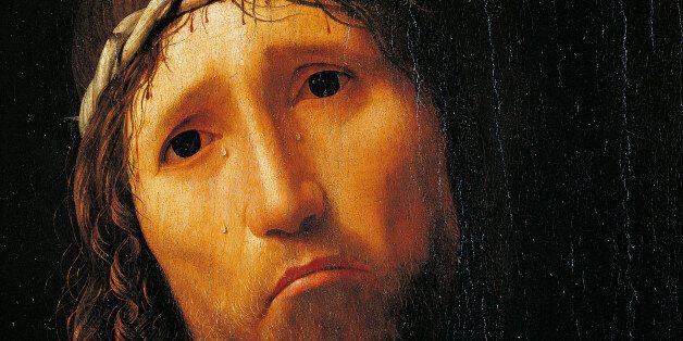 Italy, Emilia-Romagna, Piacenza, Collegio Alberoni, Detail, Close-up of Jesus Christ's face, (Photo by...