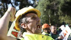 Νέα διαμαρτυρία μεταλλωρύχων: Έκλεισαν διασταυρώσεις στο Στρατώνι και στα