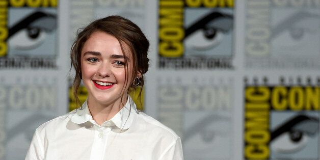 SAN DIEGO, CA - JULY 11:  Actress Maisie Williams arrives at the TV Guide Magazine: Fan Favorites panel during Comic-Con International 2015 at the San Diego Convention Center on July 11, 2015 in San Diego, California.  (Photo by Ethan Miller/Getty Images)