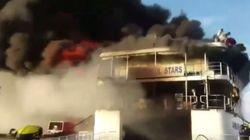 Κόλαση φωτιάς σε φέρι με 544 επιβάτες στις