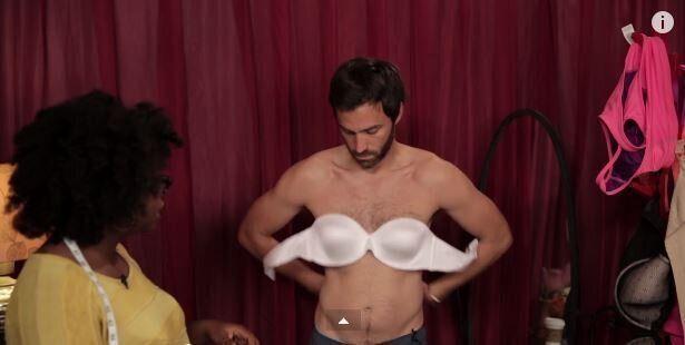 Άνδρες δοκιμάζουν σουτιέν, το φορούν για μια ολόκληρη εβδομάδα και καταγράφουν την ξεκαρδιστική εμπειρία