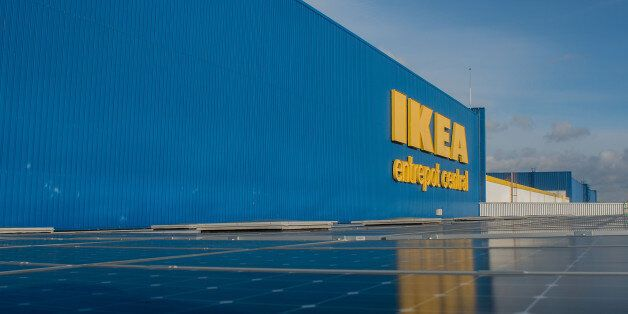 LYON, FRANCE - JANUARY 27: Prince Carl Philip of Sweden have visited the central warehouse of Ikea to...