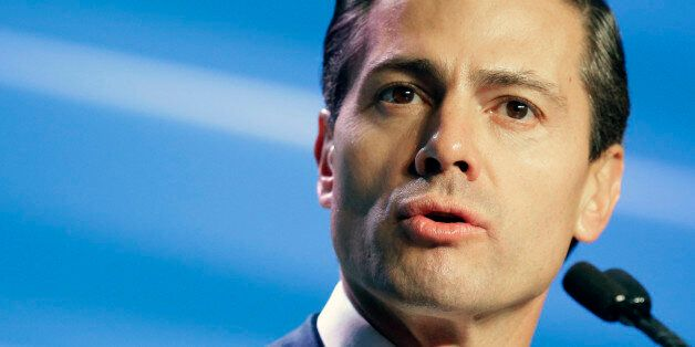 Mexican President Enrique Peña Nieto gives the opening address to attendees of the annual IHS CERAWeek...