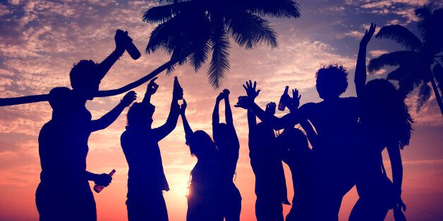 People Celebration Beach Party Summer Holiday Vacation