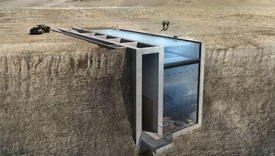 Casa Brutale: Ένα σπίτι χτισμένο μέσα στα βράχια με θέα το
