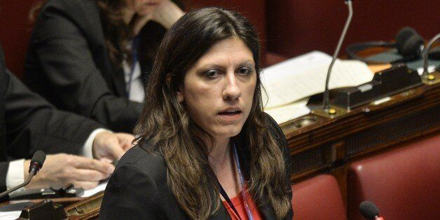 The speaker of the Greek parliament Zoe Konstantopoulou, delivers a speech during the Opening Session...