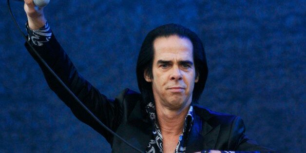 Nick Cave & The Bad Seeds performs at the Glastonbury Music Festival at Glastonbury, England on Sunday,...