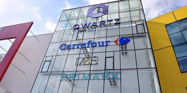 This picture taken on April 15, 2014 shows the facade of the new shopping center Qwartz which opened...
