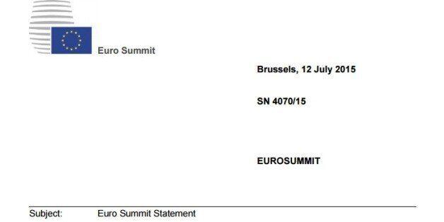 Αυτή είναι συμφωνία για την Ελλάδα μεταφρασμένη στα ελληνικά. Μνημόνιο 86 δισ. ευρώ και όλα τα μέτρα