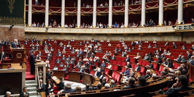 French Prime minister Manuel Valls speaks at the National Assembly, French Parliament lower house, on...