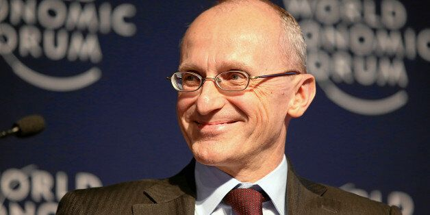 Andrea Enria, Chairman, European Banking Authority, London is captured during the Forum Debate 'Global...