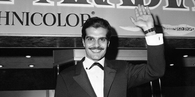 """Omar Sharif, who plays the part of Ali in """"Lawrence of Arabia"""", arrives for the premier in Hollywood..."""
