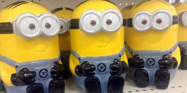 Minions Ceramic Banks at Target, 12/2014, by Mike Mozart of TheToyChannel and JeepersMedia on