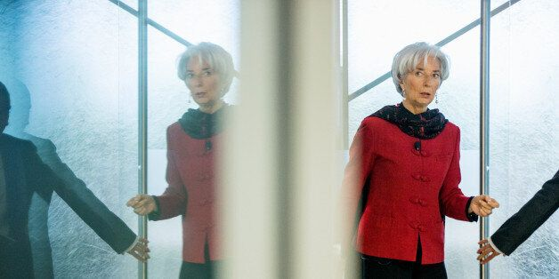 International Monetary Fund Managing Director Christine Lagarde arrives to speak at the Atlantic Council,...