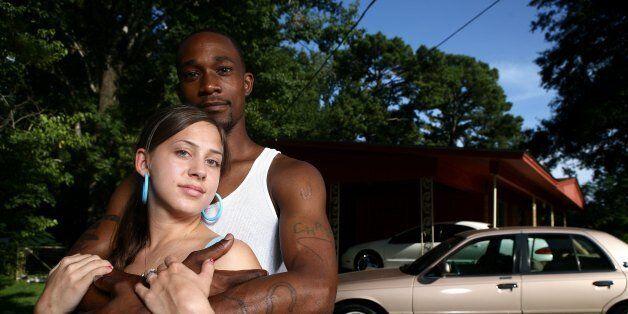 JENA, LA - AUGUST 7: Marci and Chris Johnson, an interracial couple August 7, 2007 in Jena, Louisiana....