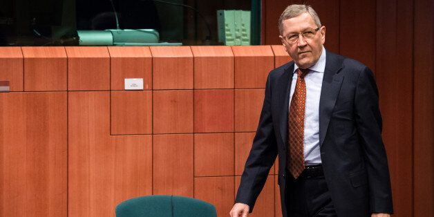 European Financial Stability Facility (EFSF) Managing Director Klaus Regling arrives for a meeting of...