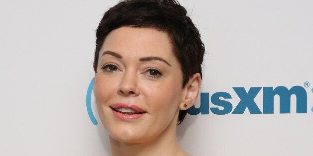 NEW YORK, NY - JUNE 23: (EXCLUSIVE COVERAGE) Rose McGowan visits at SiriusXM Studios on June 23, 2015...