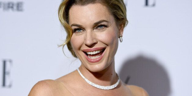 Rebecca Romijn arrives at ELLE's 6th annual Women in Television celebration at the Sunset Tower Hotel...