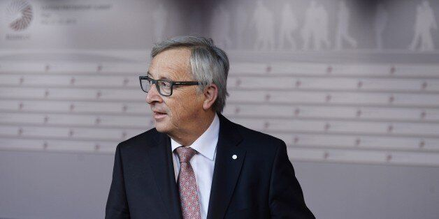 President of the European Commission Jean-Claude Juncker arrives at the House of the Blackhead for an...