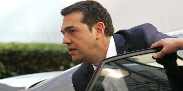 Greek Prime Minister Alexis Tsipras arrives for the EU-CELAC summit in Brussels on Thursday, June 11,...