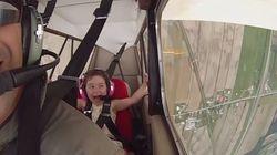 Απολαυστικό βίντεο: Οι ξεκαρδιστικές αντιδράσεις ατρόμητης 4χρονης που πετάει πρώτη φορά με αεροπλάνο που κάνει κόλπα και
