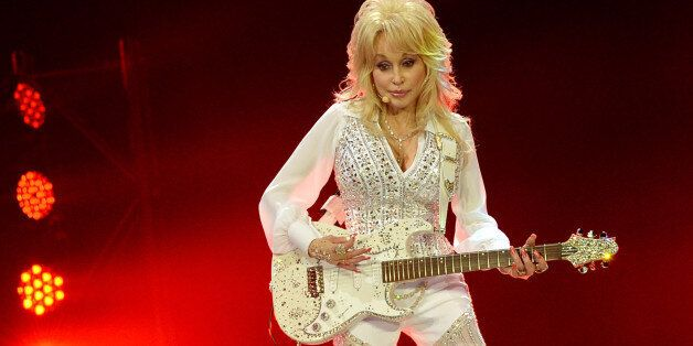 KNOXVILLE, TN - MAY 28: Dolly Parton performs during a concert to benefit Dolly's Imagination Library...