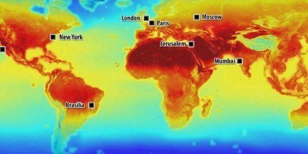 Χάρτης: Πώς θα επηρεάσει η κλιματική αλλαγή τη Γη. Θερμοκρασίες Σαχάρας στην Ελλάδα το