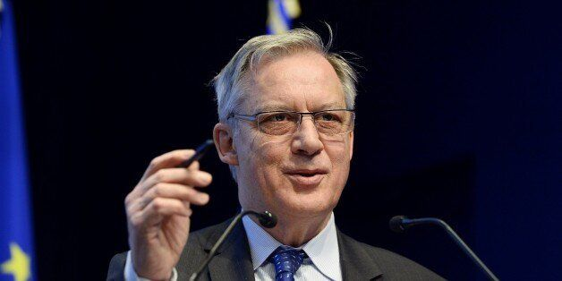 Governor of the Banque de France, the French central bank, Christian Noyer delivers a speech on 'The...