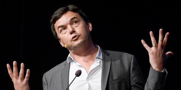 French economist Thomas Piketty spaeks during his seminar at the Almedalen political week in Visby on...
