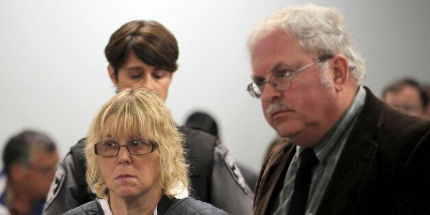 PLATTSBURGH, NY - JUNE 15: Joyce Mitchell (L) appears with her lawyer Stephen Johnston before Judge Buck...