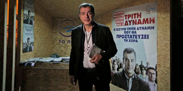 This photo taken on Wednesday, Jan. 21, 2015 shows Stavros Theodorakis, 51, leader of the political party...